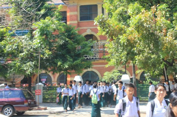 Botataung 3 or No. (3) Basic Education High School, Botataung. My school!