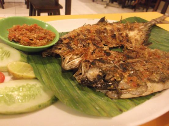Grilled Fish Food Jakarta Indonesia