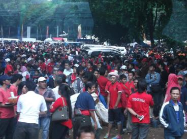 Jakarta Indonesia SEAGame Football Crowd