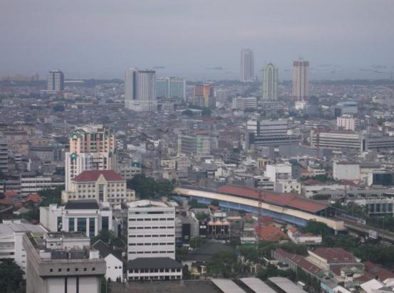 View from Monas Jakarta Indonesia