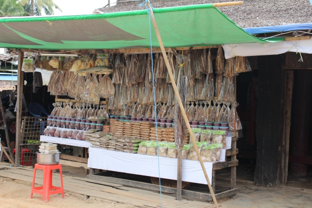 Dried Fish shop Ngwe Saung
